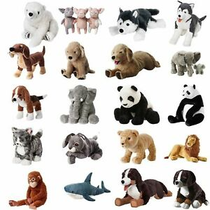 IKEA-Soft-Toys-Panda-Shark-Elephant-Dog-Animals-Kids-Christmas-Plush-Cuddly-Toy