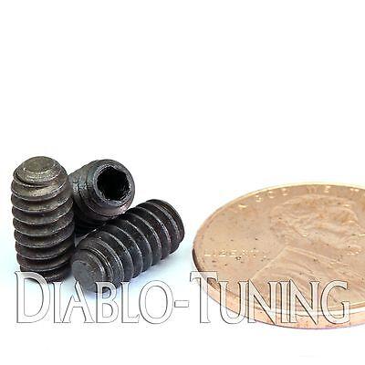 "Socket SET // GRUB SCREWS Cup Point Qty 20 Black Alloy Steel #10-24 x 3//4/"""