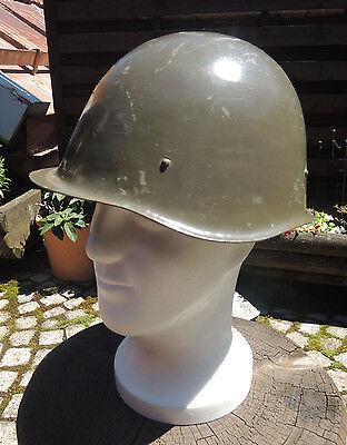 Original Ungarischer Stahlhelm oliv mit Innenteil Armeehelm Militär Schutzhelm
