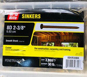 "Grip Rite 16d 3""  7.62cm Bright Duplex Framing Nails Double Head 16DUP1"