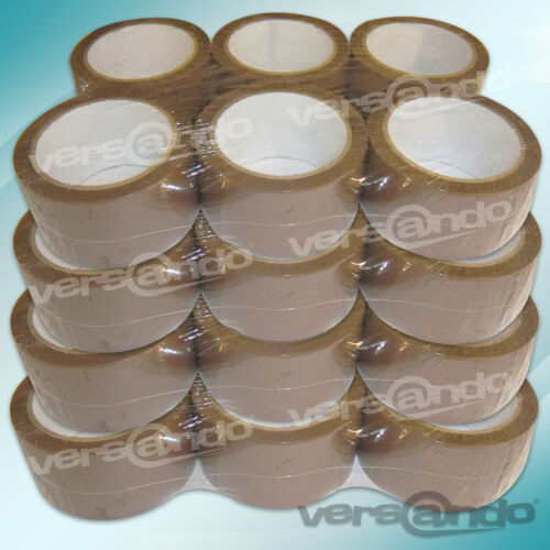 24 rollos de cinta adhesiva 66m x 5cm marrón Pack paquete de banda Banda packetband acrílico pp