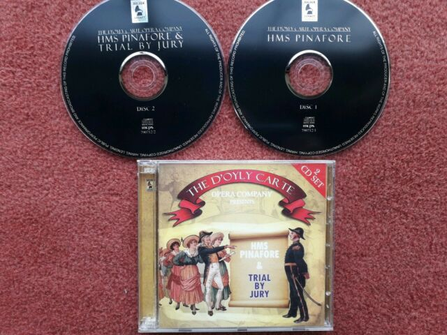"The D'Oyly Carte Opera Company Presents ""HMS Pinafore"" & ""Trial By Jury"" 2x CDs"