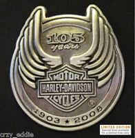 Harley Davidson 105th Anniversary Pin Genuine Hd