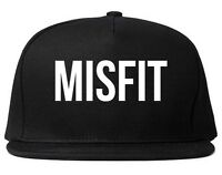 Kings Of NY Misfit Bold Printed Snapback Cap Hat One Size Black Red Grey White