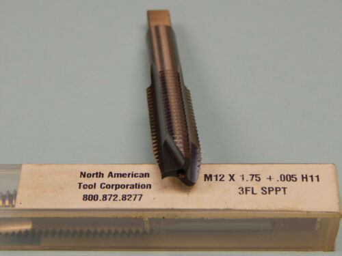 BY NORTH AMERICAN TOOL CORP. M12 X 1.75 .005 H11  3 FLUTE  SPPT MFG