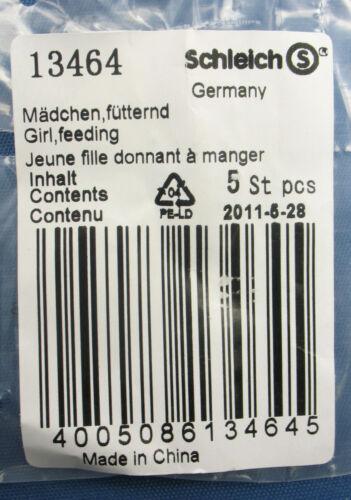 Figur NEU in OVP 10x SCHLEICH 13464 Pferd fütternd Mädchen Girl feeding
