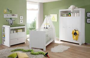 Das Bild Wird Geladen Babyzimmer Komplett Set Weiss Kinderzimmer  Olivia 5 Teilig