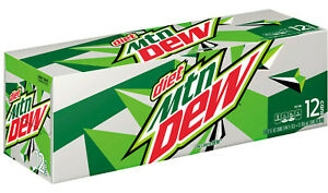 dc93912bfda3 Details about 1 x Case of 12 355ml Mountain Dew Diet Soda Cans - No Sugar -  USA MTN DEW