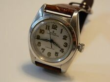 Rolex Vintage 1940's Bubble Back Stainless Steel Automatic