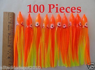 10pcs 3.5/'/' Silicone Hoochie Octopus Squid Skirt Trolling Lures Soft Baits