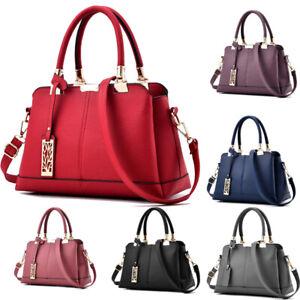 Women-Leather-Handbag-Ladies-Tote-Messenger-Shoulder-Purse-Satchel-Crossbody-Bag