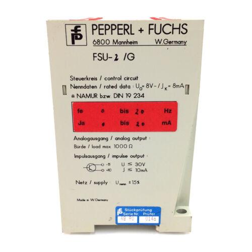 Control Unit FSU-2//G PepperL /& Fuchs 24V FSU2G