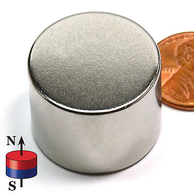 "CMS Magnetics® Super Strong N52 Neodymium Disc Magnets 1""x 3/4"" - BEST SELLER!"