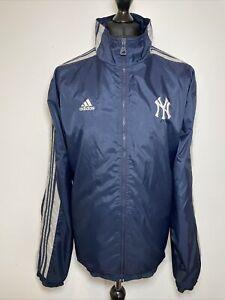 Adidas NY New York Yankees Vintage 2000 Blue Lightweight Windbreaker Jacket XL