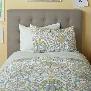 NEW-Dwell-Studio-Twin-Duvet-amp-Sham-Set-156-Peacock-Victoria-Citrine-Dwellstudio
