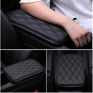 Black-PU-Leather-Car-Truck-SUV-Center-Console-Box-Armrest-Pad-Cover-Universal