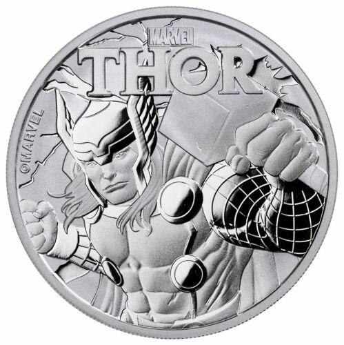 2018 Tuvalu Thor 1 oz Silver Marvel Series $1 BU Original Mint Capsule SKU49351