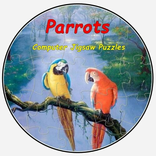 Computer Jigsaw Puzzles on CD 110 Images #1 Parrots