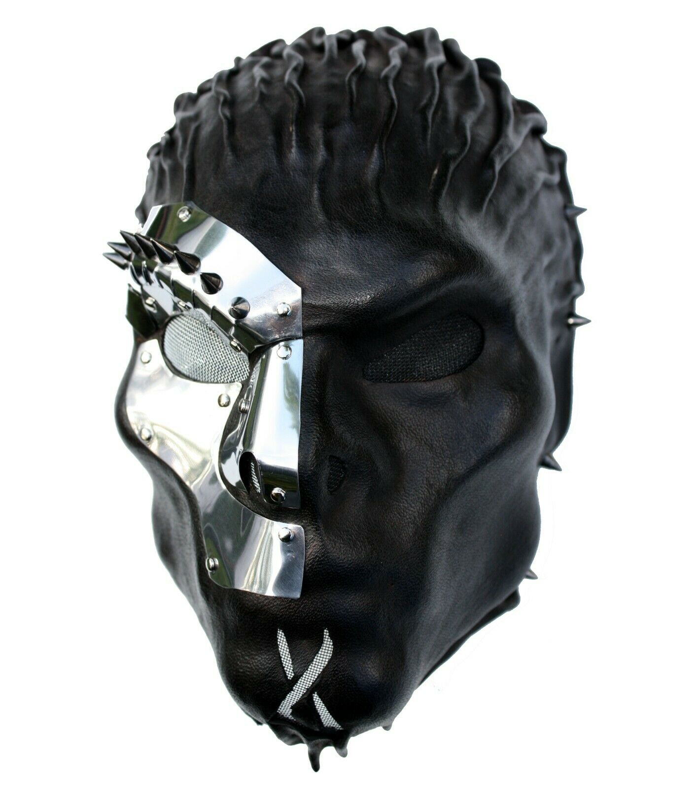 Wearable Black Leather Mask Armour Steampunk Gothic MetalBands Theatre Handmade
