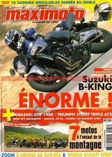 MAXIMOTO  66 KAWASAKI GTR 1400 Z1000 TRIUMPH 675 SUZUKI 1340 Bking HONDA VT 750