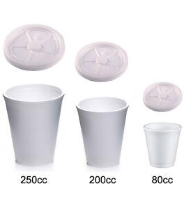 50 bicchieri termici in polistirolo monouso 80cc 200cc o for Bicchieri termici