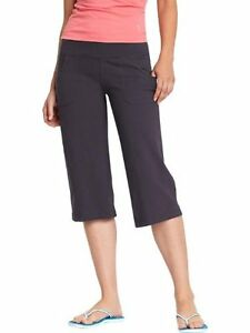Old Navy Women's Active Women's Wide-Leg Yoga Capris - BLACK