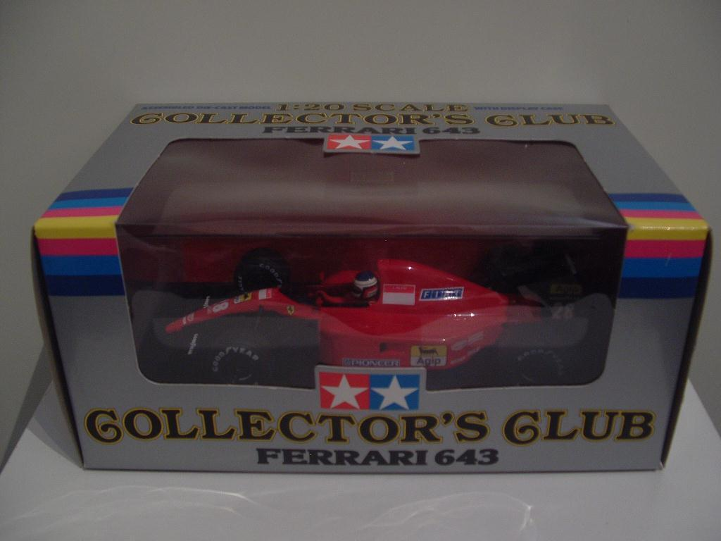 Ferrari 643 F1 1991 Jean Alesi scale 1 20 Tamiya Collectors Club NEW in Box