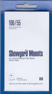 Showgard-Stamp-Mounts-106-55mm-US-3c-4c-Commemorative-Blocks-Black-Free-Post-New