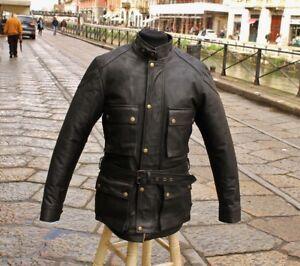 Giubbotto-cappotto-trench-pelle-moto-stile-cafe-racer-byker-marrone-scuro-Guendj