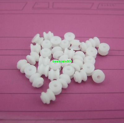 10pcs 62A pulley Φ6mm 2mm hole  belt wheel Plastic gears for Ship model Toy car