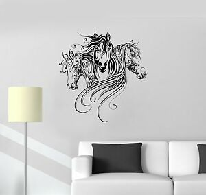 Vinyl Decal Horses Animal Patterns Room Decoration Wall Stickers - Wall decals horses