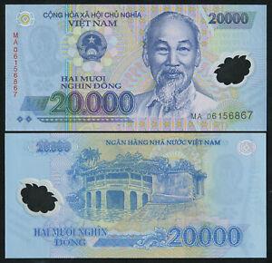 10000-20000 Dong 2006 UNC Set of 2 Polymer Notes P 119a 121a VIETNAM