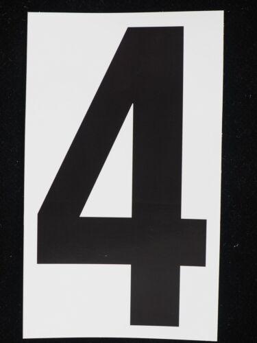 "10-5/"" Sticker Decal Vinyl Adhesive Address Numbers Black /& White No.4 USA MADE"