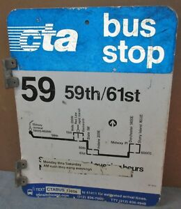 Vtg-2-Sided-CTA-Bus-Stop-59-59th-Chicago-Aluminum-Sign-24-x-18-S674