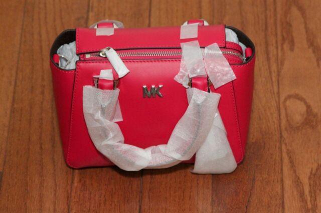 NWT Michael Kors  298 Nolita Mini Messenger Crossbody Tote Bag Ultra Pink deec37c624