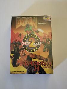 Details about NEW - DOOM & WOLFENSTEIN 3D Shareware Box [PC] 2 CD Pack -  ULTRA RARE!! [NIB]