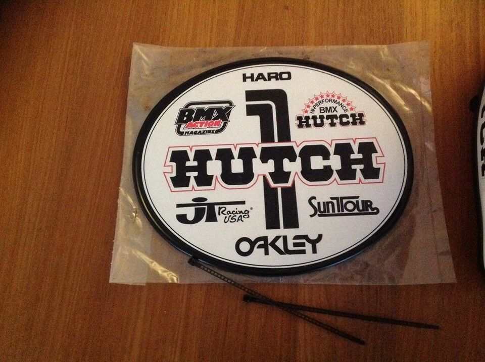 Old School OVAL BMX Number plate by OGK JAPAN - HUTCH BMX
