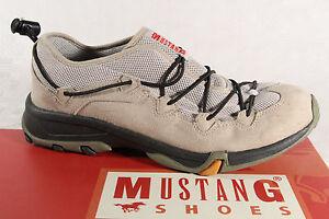 Mustang-Mocasines-Zapatillas-Zapatos-Deportivos-Abotinados-Beige-Suela-de-Goma