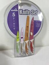 Bluesim Stainless Steel Kitchen Triple Rivet Knife Set 5 Piece For Sale Online Ebay