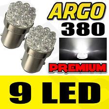 2x CAR 1157 BAY15D P21/5W 380 9 LED WHITE STOP TAIL BRAKE LIGHT LAMP BULBS