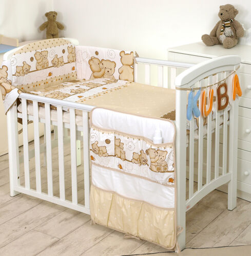 BABY GIRL BOY+MORE DESIGS 3 PC CUDDLED TEDDY BEAR NURSER BABY COT //COT BED SET