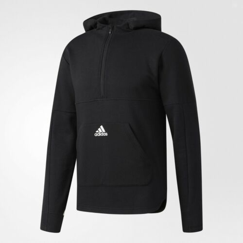 NWT* ADIDAS ESSENTIAL MEN/'S HOODIE SWEATSHIRT BLACK WHITE BR3406 HOODY