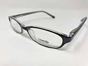 Europa-Elements-Eyeglasses-Womens-EL-156-51-17-135-Polished-Black-Clear-LN68