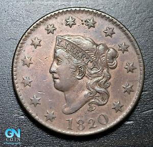 1820-Coronet-Head-Large-Cent-MAKE-US-AN-OFFER-B3663