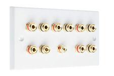 5.1 White Speaker Audio Wall Face Plate Solder-less