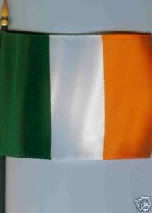 "Ireland Irish Éire 4""x6"" Flag on a Pole NEW"