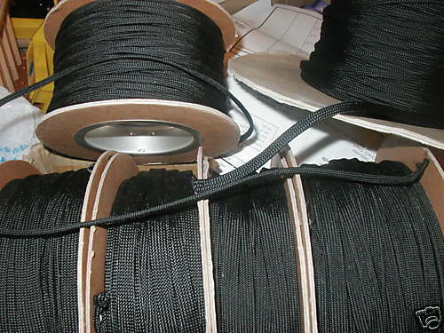 "3//32/""  BRAIDED NYLON SLEEVING audio TECHFLEX    25 ft."