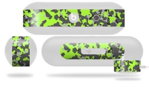 Skin For Beats Pill Plus Old School Camouflage Camo Lime Green Decal