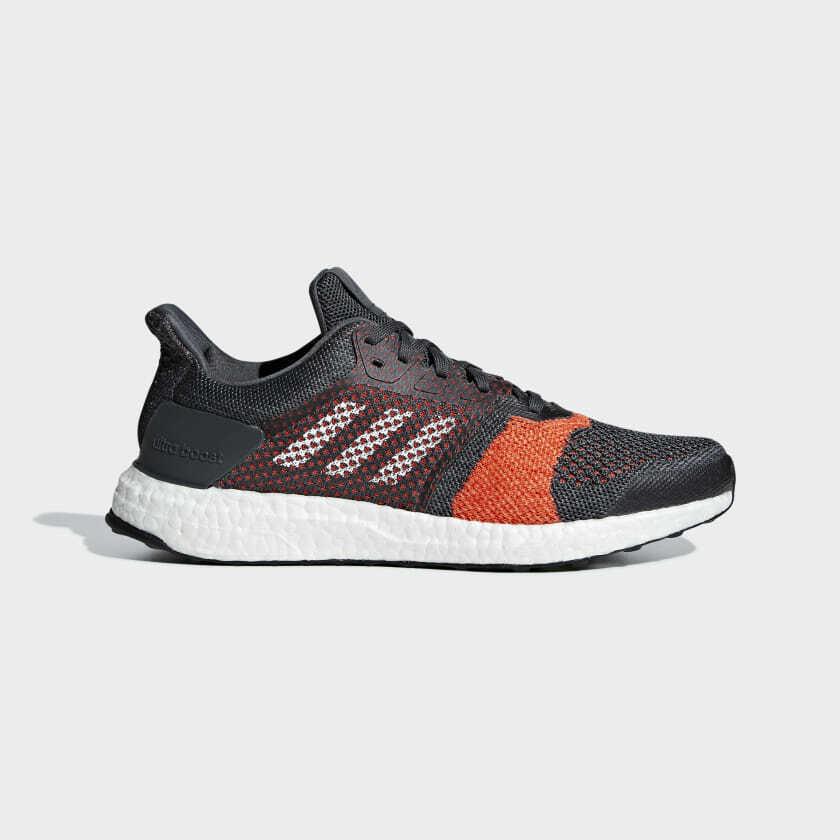 Adidas Ultra boost ST Mens Running Shoes Grey/Orange/Carbon B37696 MULTIPLE!