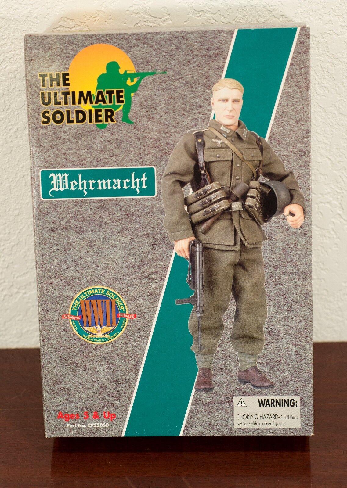 1999 el soldado definitivo Segunda Guerra Mundial Wehrmacht alemana figura de acción sin usar, en Caja